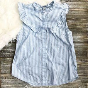 H&M pin stripe babydoll shirt